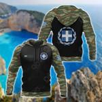 Custom Name Greece Coat Of Arms Camo All Over Print Hoodies