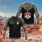 Customize Jordan Coat Of Arms Camo All Over Print Hoodies