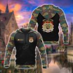 Custom Name Belgium Coat Of Arms Camo All Over Print Hoodies