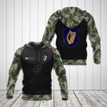 Custom Name Ireland Coat Of Arms Camo All Over Print Hoodies