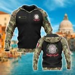 Custom Name Italy Coat Of Arms Camo All Over Print Hoodies