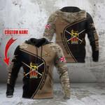 Custom Name British Army Veteran Symbol Camo All Over Print Hoodies