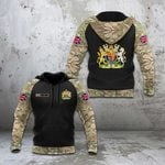 Custom Name United Kingdom Coat Of Arms Camo All Over Print Hoodies