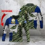 Custom Name Honduras Coat Of Arms Camo All Over Print Hoodies