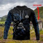 Custom Name Scotland Lion - Black All Over Print Hoodies