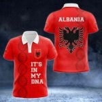 Albania DNA - New Version All Over Print Polo Shirt