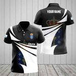 Customize Galicia Coat Of Arms New Style 3D Print All Over Print Polo Shirt
