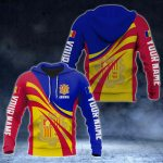Custom Name Andorra Flag Color 3D Print All Over Print Hoodies