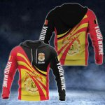 Custom Name Belgium Flag Color 3D Print All Over Print Hoodies