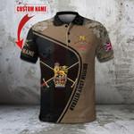 Custom Name British Army Veteran Symbol Camo All Over Print Polo Shirt
