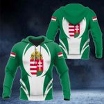 Hungary Coat Of Arms 3D Form All Over Print Hoodies