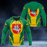 Lithuania Coat Of Arms 3D Form All Over Print Hoodies