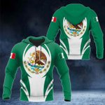 Mexico Coat Of Arms 3D Form All Over Print Hoodies
