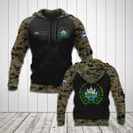Custom Name El Salvador Coat Of Arms Camo All Over Print Hoodies