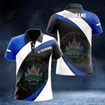 Customize El Salvador Proud Version All Over Print Polo Shirt
