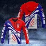 Custom Name Croatia Flag Color 3D Print All Over Print Hoodies