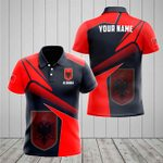 Customize Albania Proud With Coat Of Arms All Over Print Polo Shirt