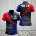 Customize Costa Rica Proud With Coat Of Arms All Over Print Polo Shirt