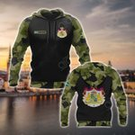 Custom Name Sweden Coat Of Arms Camo All Over Print Hoodies