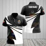 Customize Venezuela Coat Of Arms New Style 3D Print All Over Print Polo Shirt