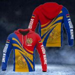 Custom Name Armenia Flag Color 3D Print All Over Print Hoodies