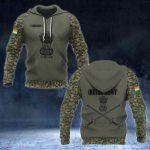 Indian Army Camo Coat Of Arms Black All Over Print Hoodies
