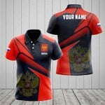 Customize Russia Proud With Coat Of Arms All Over Print Polo Shirt