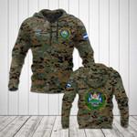 Custom Name El Salvador Camo Coat Of Arms All Over Print Hoodies