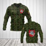 Custom Name Lithuania Camo Coat Of Arms All Over Print Hoodies