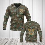 Custom Name South Africa Camo Coat Of Arms All Over Print Hoodies
