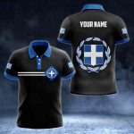 Customize Greece Flag Color 3D All Over Print Polo Shirt