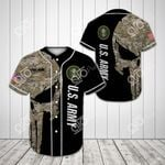 Custom Name Army Veteran Camo All Over Print Baseball Jersey Shirt