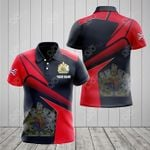 Customize United Kingdom Proud With Coat Of Arms All Over Print Polo Shirt