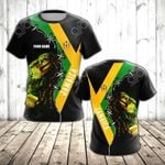 Custom Name Jamaica's Lion  All Over Print T-shirt