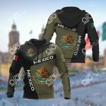 Custom Name Mexico Coat Of Arms Sport Style All Over Print Hoodies