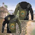 Custom Name Puerto Rico Coat Of Arms Sport Style All Over Print Hoodies