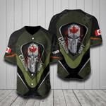 Custom Name Canadian Army Flag Helmet All Over Print Baseball Jersey Shirt