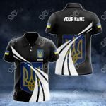 Custom Name Ukraine Proud Of My Country All Over Print Polo Shirt