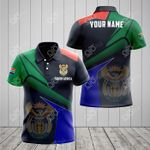Customize South Africa Proud With Coat Of Arms All Over Print Polo Shirt