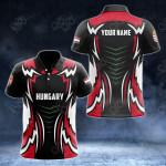 Custom Name Hungary New Style All Over Print Polo Shirt