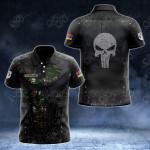 Customize Armenian Army Armor Skull 3D All Over Print Polo Shirt