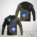 Custom Name Slovenia Coat Of Arms Sport Style All Over Print Hoodies