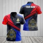 Customize Cambodia Proud With Coat Of Arms All Over Print Polo Shirt