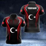 Custom Name Turkey Flag Special All Over Print Polo Shirt