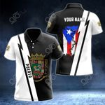 Customize Name in Puerto RIco's Coat Of Arms  All Over Print Polo Shirt