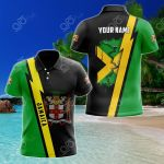 Customize Name in Jamaica's Coat Of Arms  All Over Print Polo Shirt