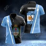 Customize Name in Arghentina's Coat Of Arms  All Over Print Polo Shirt