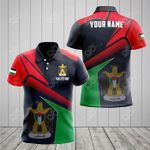 Customize Palestine Proud With Coat Of Arms All Over Print Polo Shirt