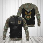 Custom Name South Africa Coat Of Arms Camo V2 All Over Print Hoodies