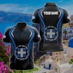 Custom Name Greece Flag Special All Over Print Polo Shirt